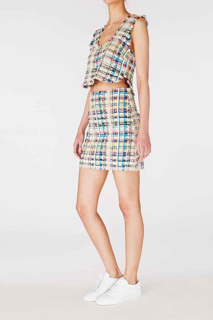 Sam & Lavi Kai Confetti Skirt in Tweed