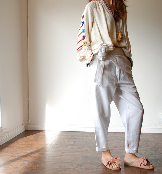 Ulla Johnson Vania Blouse, Adela Trousers, Ingrid Slides