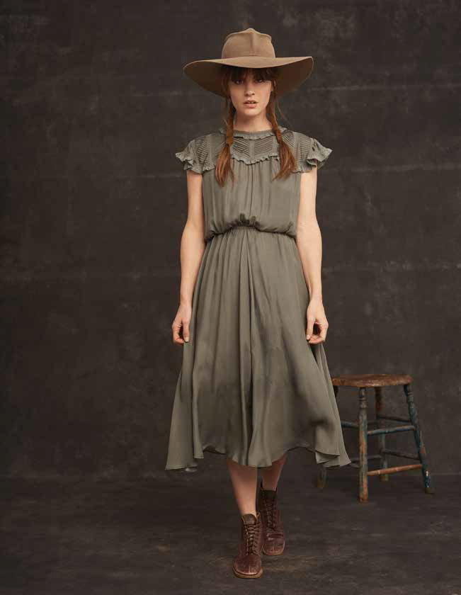 The Great The Pintuck Flutter Dress