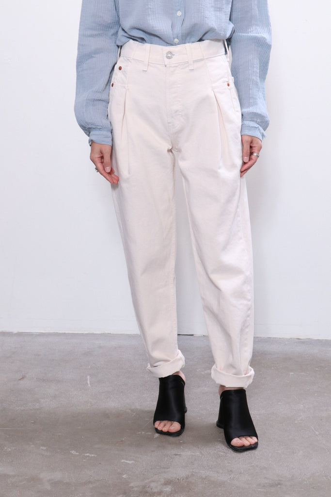 Re/done 40s Zoot Jean in Vintage White