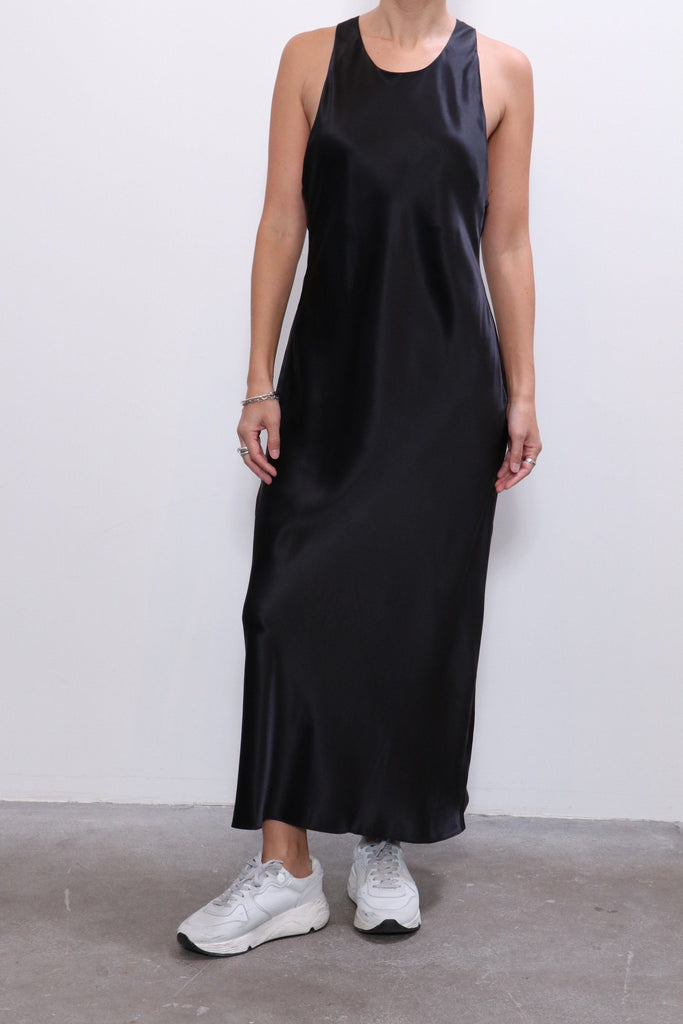 Re/done 90s Slip Dress in Black