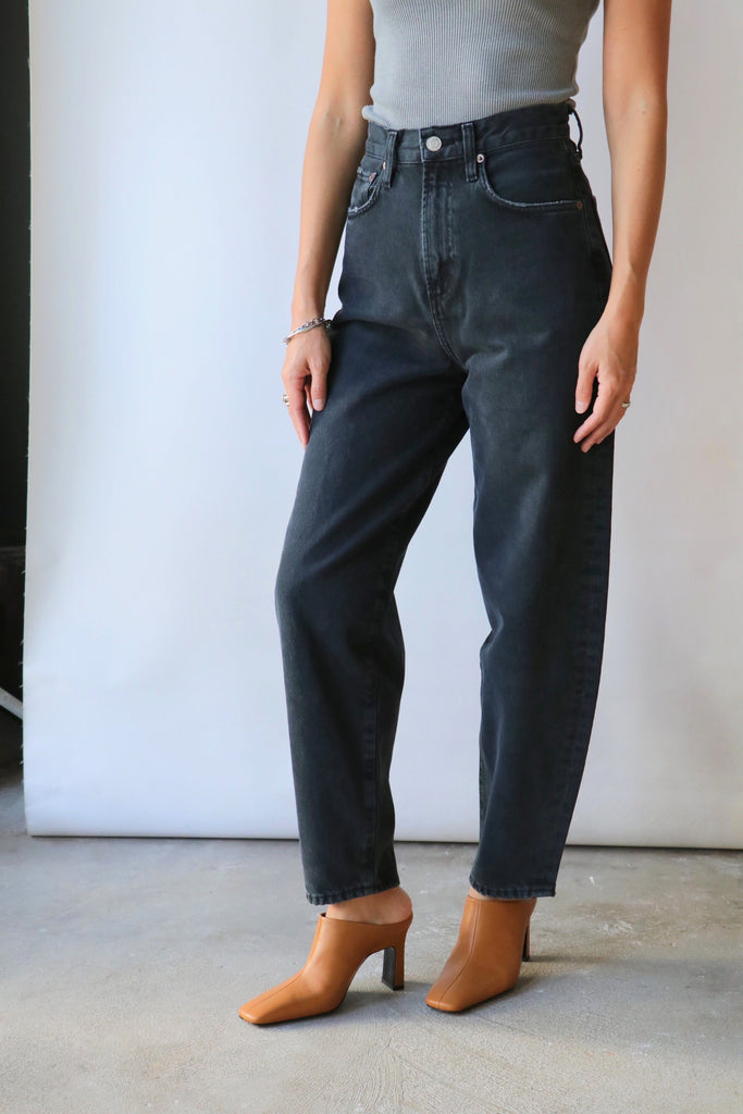 Agolde Balloon Jean in Black Tea Bottoms AGOLDE