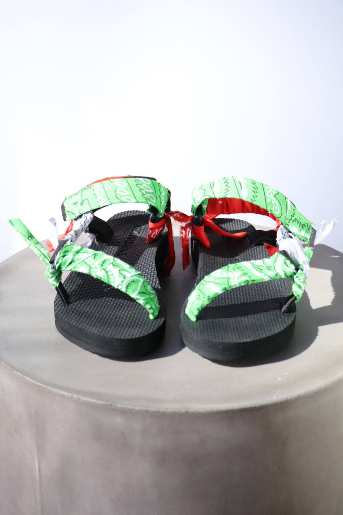 Arizona Love Trekky Mix Green Bandana Sandals Shoes Arizona Love