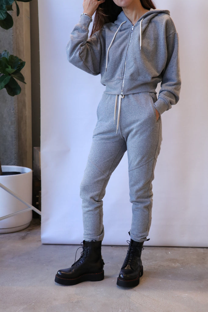 John Elliott Boca Zip Up in Heather Grey