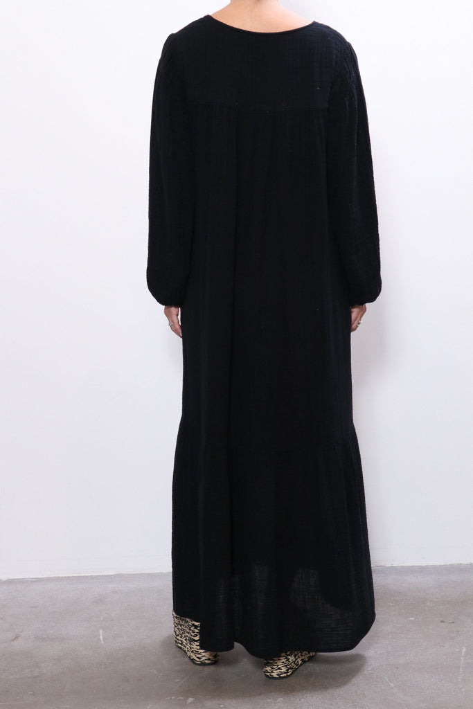 Raquel Allegra Empress Dress in Black