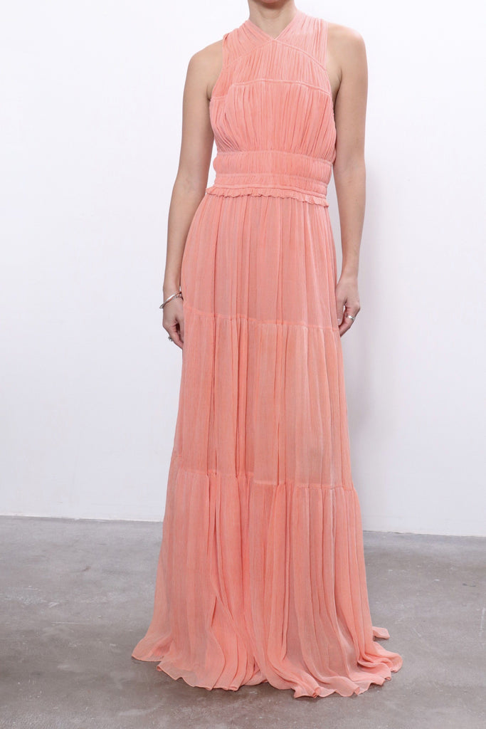 Freesia Gown in Coral Dresses Ulla Johnson