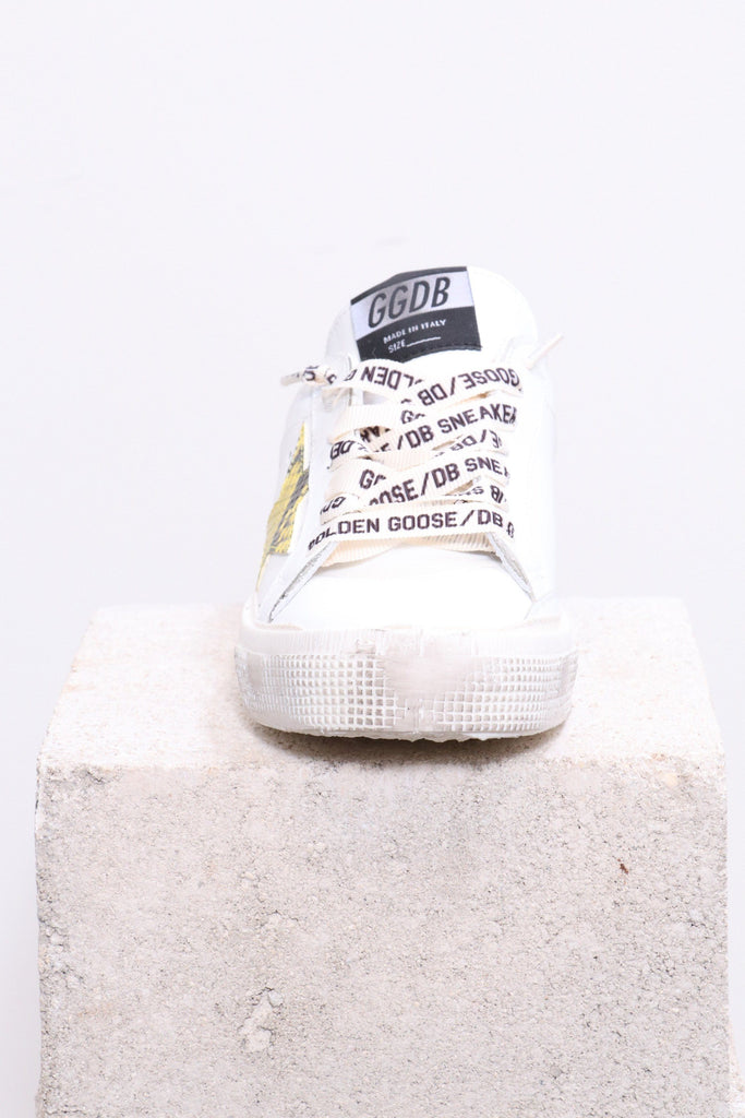 Golden Goose May Sneakers in White Green- Snake Star - WE ARE ICONIC