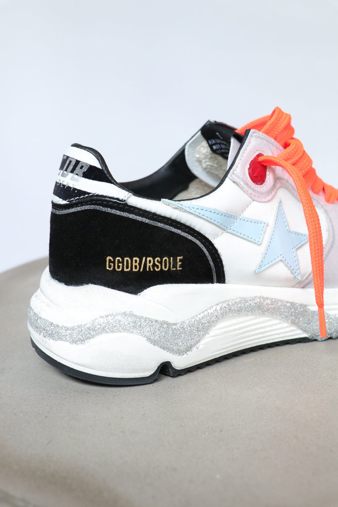 Golden Goose Running Sole Nylon Upper Leather Star Zebra Print Heel Shoes Golden Goose