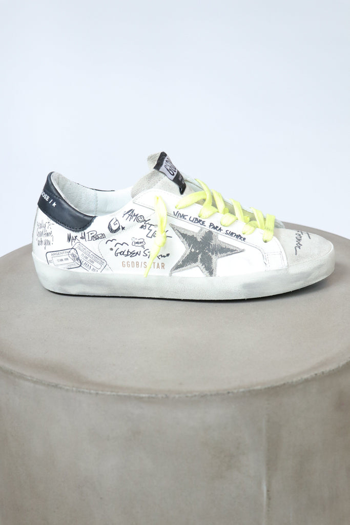 Golden Goose Superstar Leather Upper Suede Star Journey Signature Shoes Golden Goose