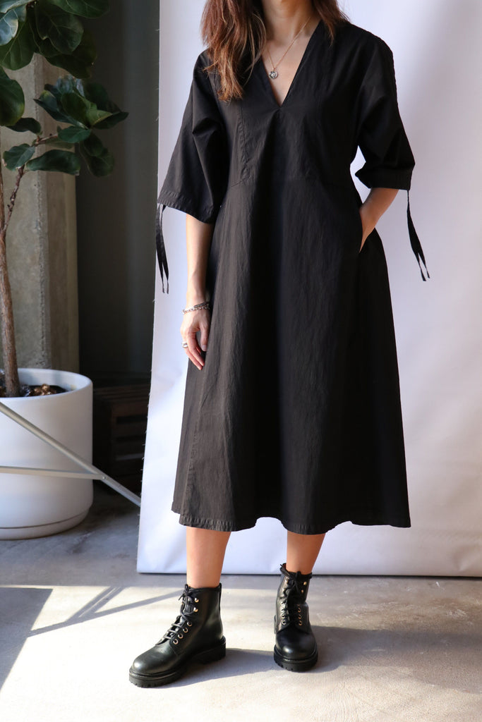 Henrik Vibskov Minute Dress Garment Dye in Black Dresses Henrik Vibskov