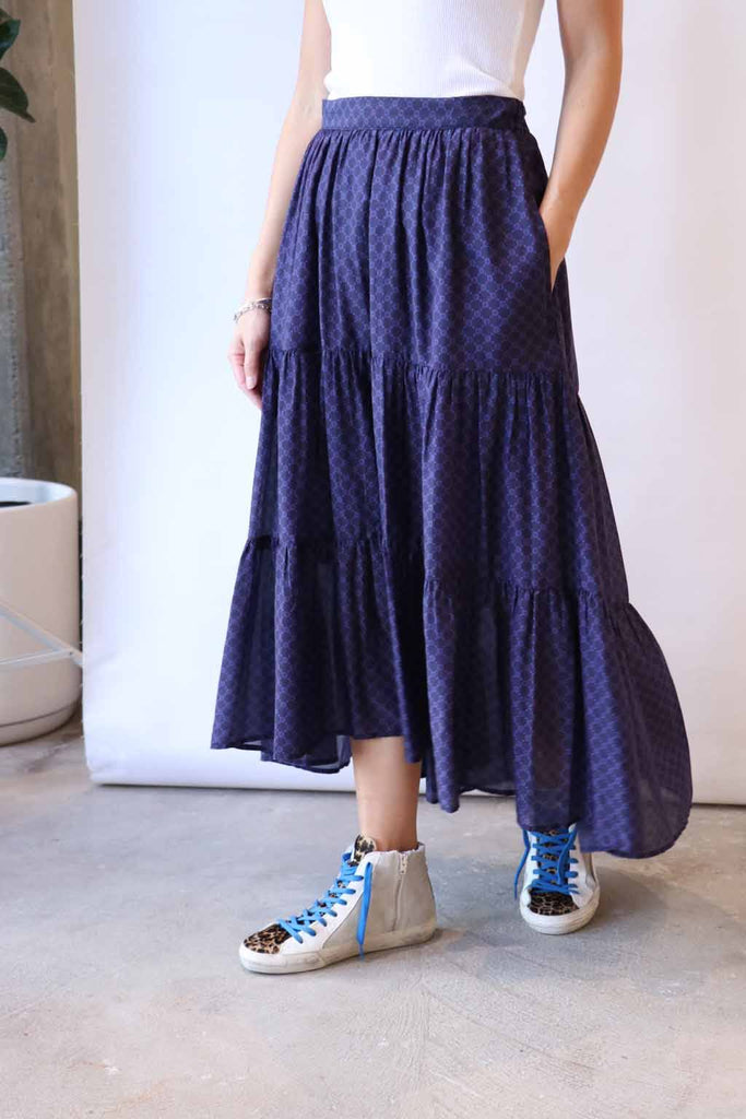 Xirena Iris Skirt in Agate Blue