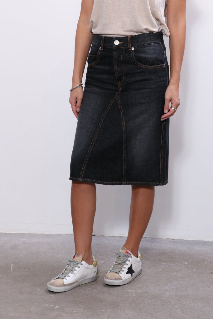 Isabel Marant Fiali Skirt in Faded Black