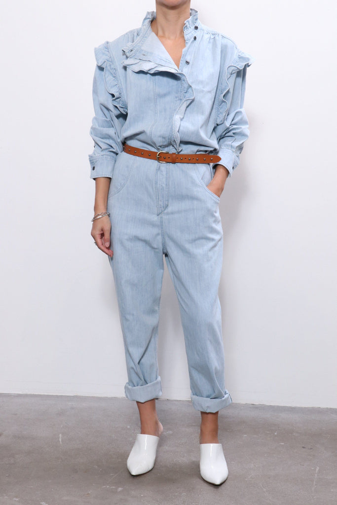 Isabel Marant Etoile Gayle Overall in Light Blue
