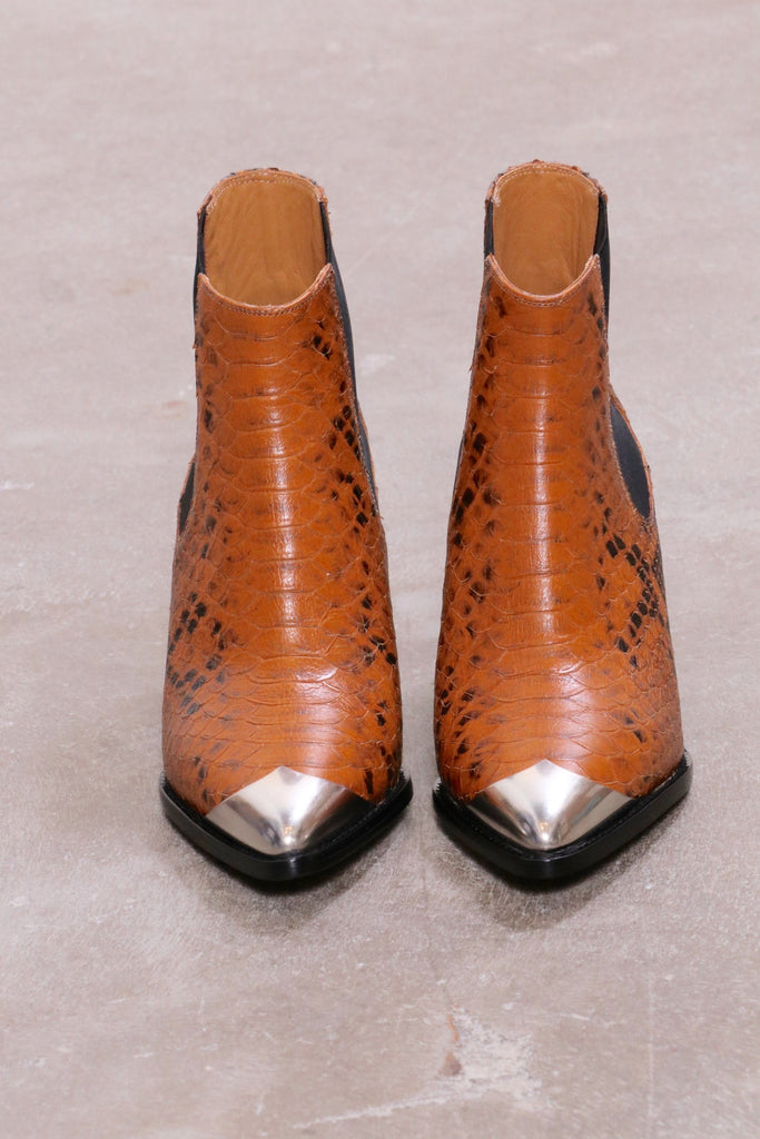 Isabel Marant Etoile Lemsey Boots in Cognac - WE ARE ICONIC