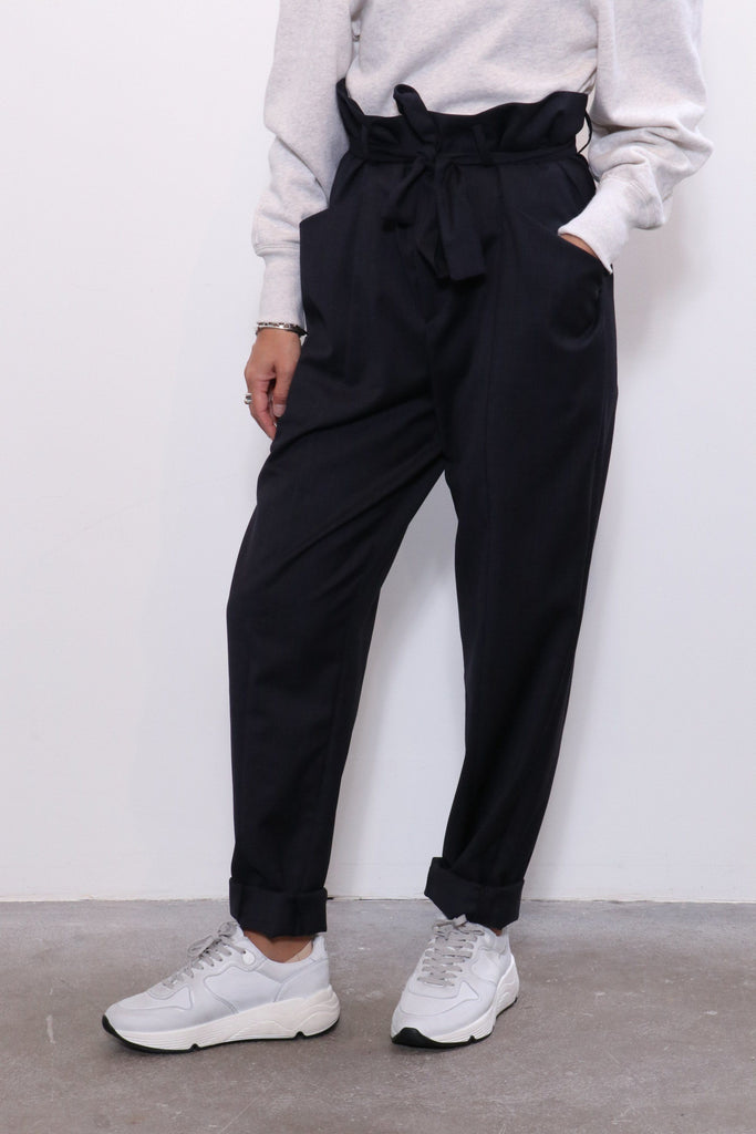 Isabel Marant Etoile Vittoria Pants in Midnight - WE ARE ICONIC