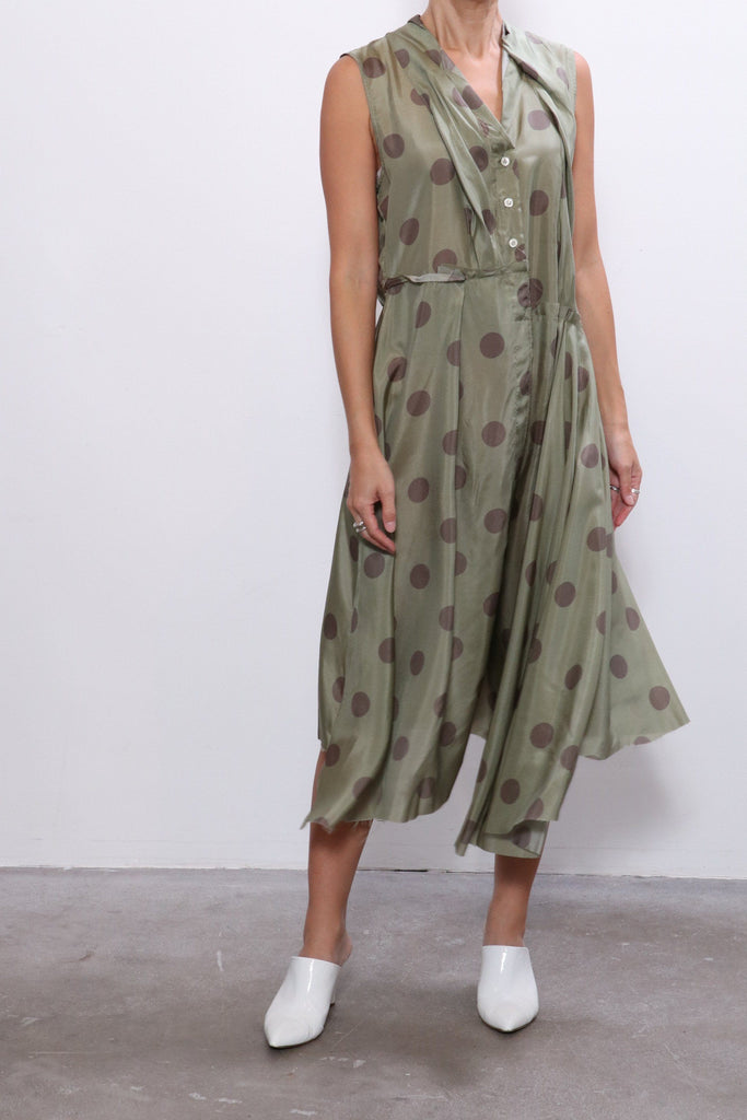 Jejia Silk Dress in Green
