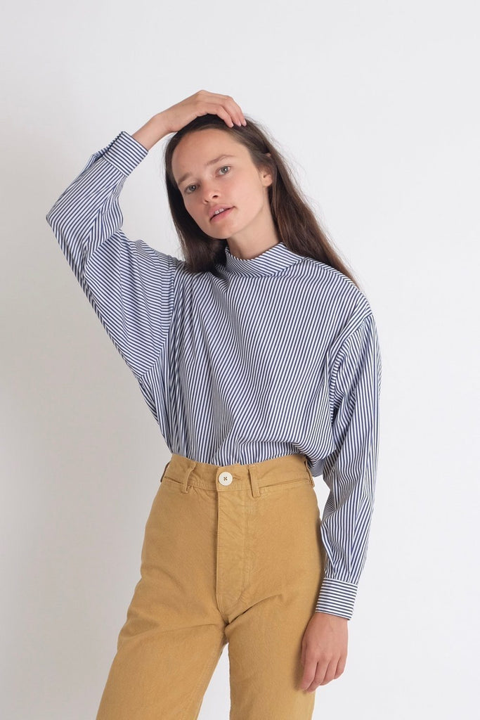 Jesse Kamm Box Turtleneck in Thin Stripe - WE ARE ICONIC