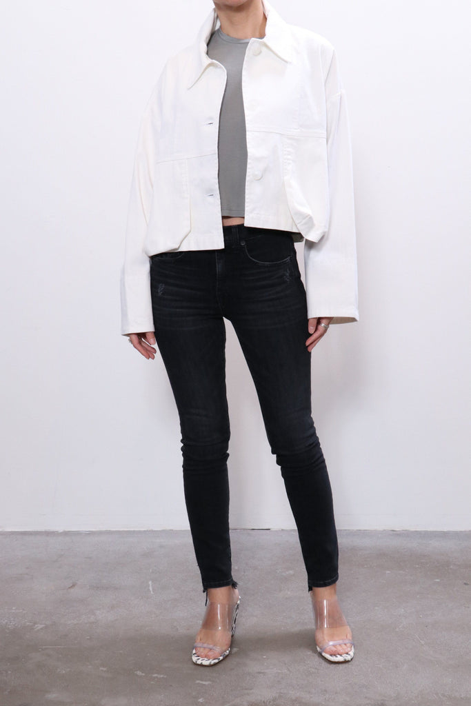 John Elliott Cropped Field Coat in White