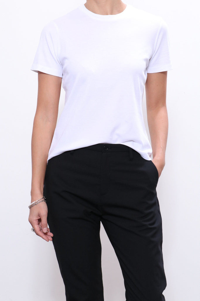 John Elliott High Twist Cotton Tee in White - WE ARE ICONIC