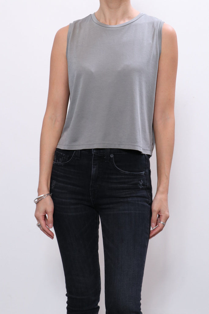 John Elliott High Twist Muscle Tank in Cement