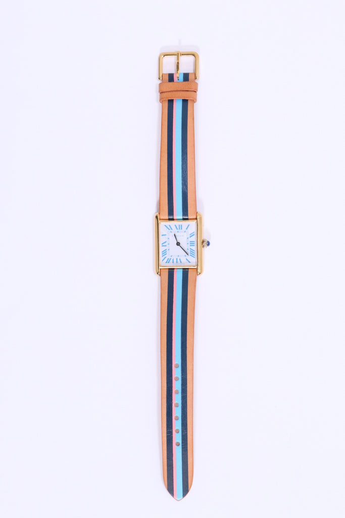 La Californienne Cartier Tank Large Blanc Bleu/Bluebell - WE ARE ICONIC