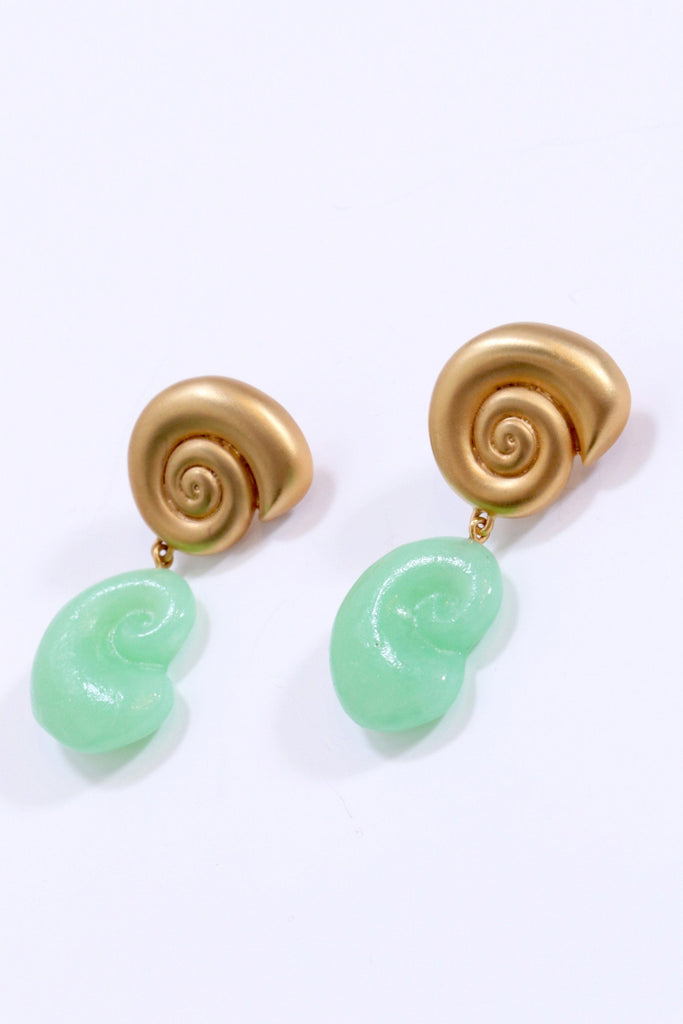 Leigh Miller Nautilus Double Drop Earrings - WE ARE ICONIC