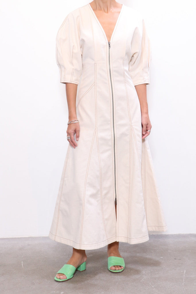 Mara Hoffman Sophie Dress in Natural - WE ARE ICONIC