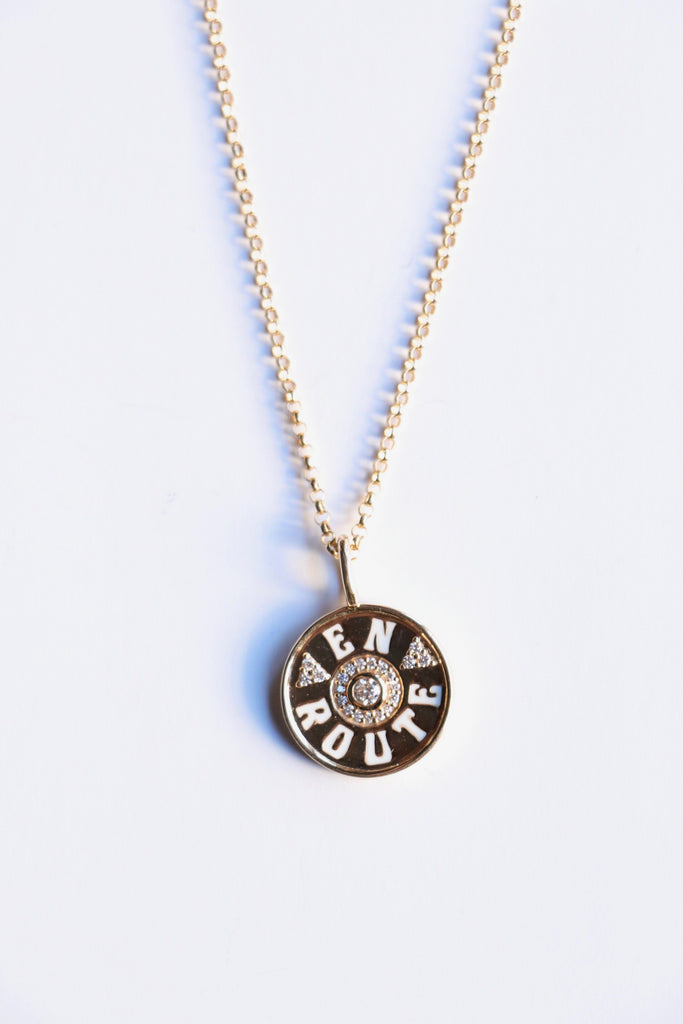 Marlo Laz Mini En Route Coin Necklace Jewelry Marlo Laz