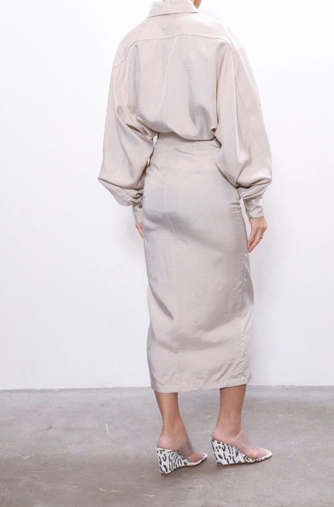 Maryam Nassir Zadeh Philo Skirt in Parchment