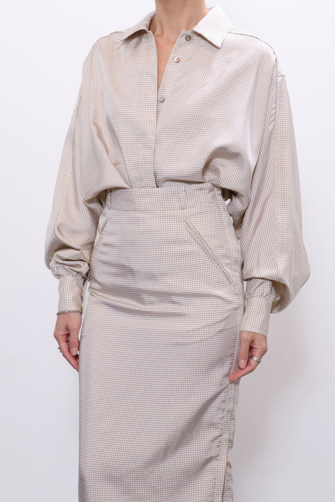 Maryam Nassir Zadeh Pointe Blouse in Parchment