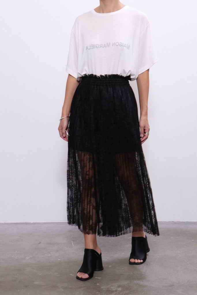 MM6 Maison Margiela Lace Culotte Pants in Black - WE ARE ICONIC
