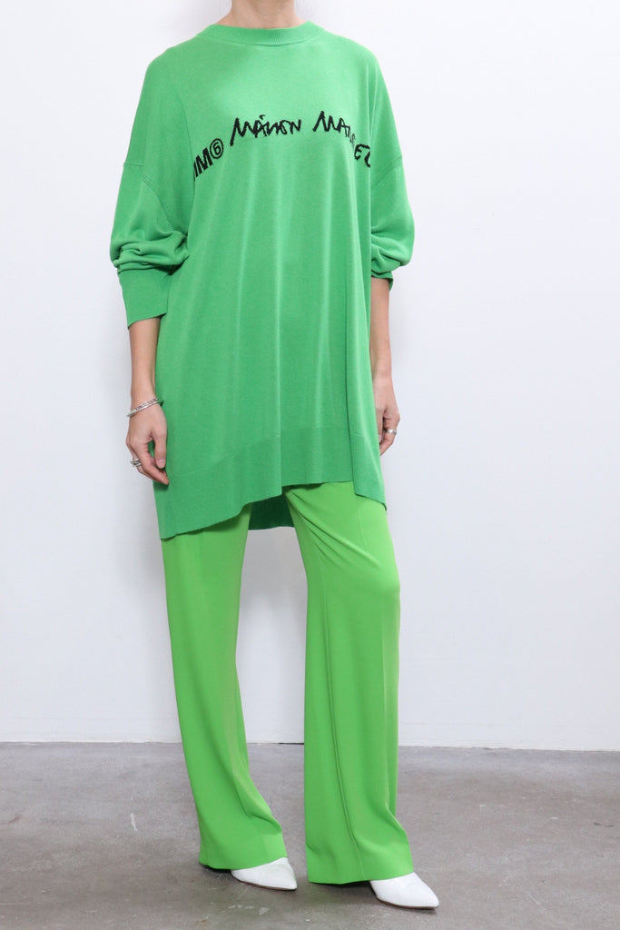 MM6 Maison Margiela Pleat Front Trouser in Green Apple