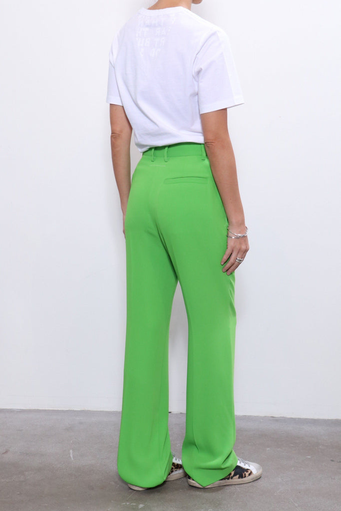 MM6 Maison Margiela Pleat Front Trouser in Green Apple Bottoms MM6 Maison Margiela