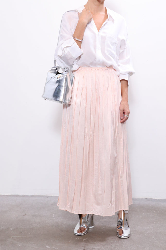 MM6 Maison Margiela Skirt in Blush W/ R13 Top & MM6 Shoes & MM6 Bag