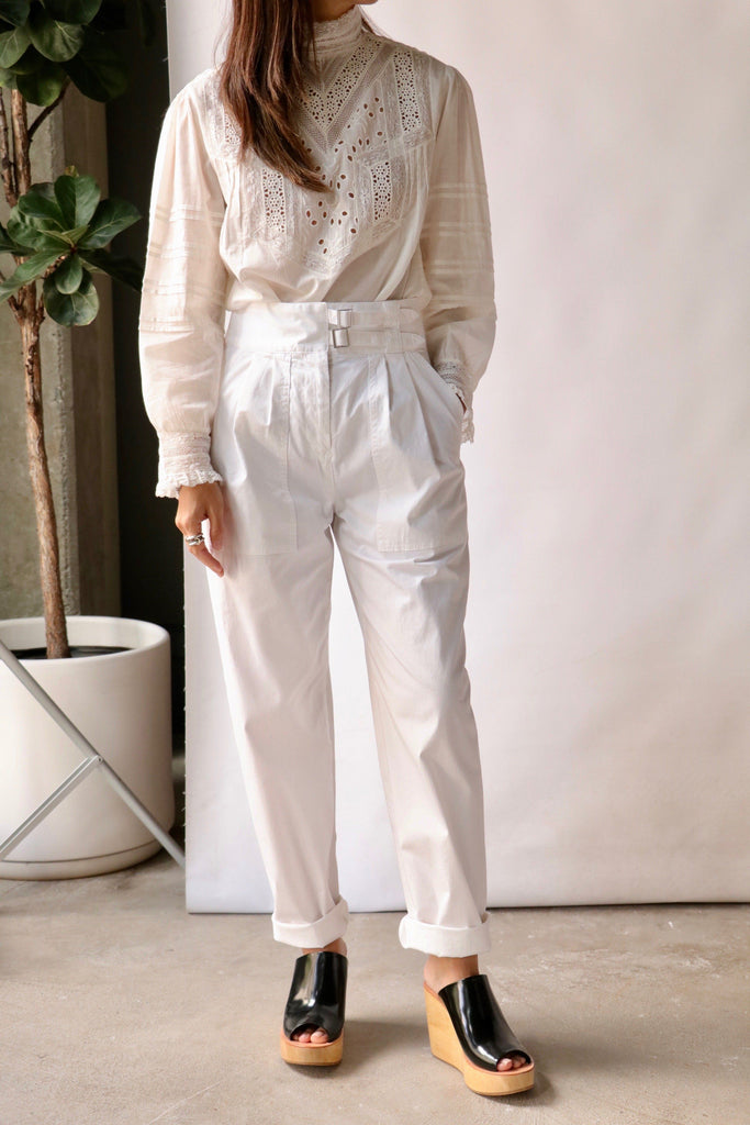 Nili Lotan Dallas Pant in White Bottoms Nili Lotan
