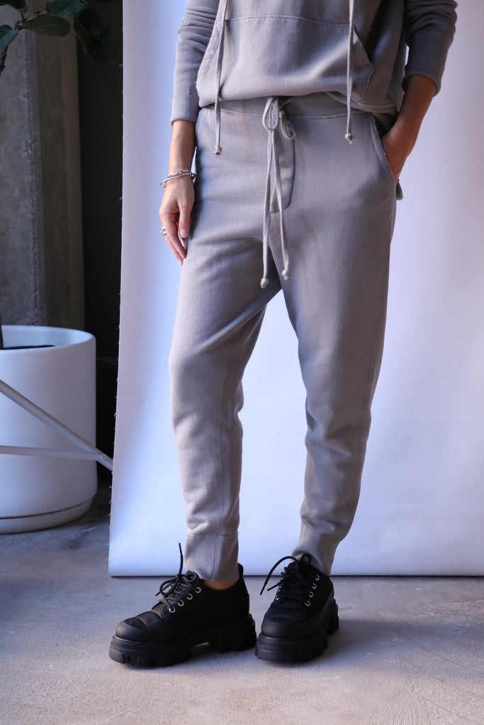 Nili Lotan Nolan Pant in Cloud Grey Bottoms Nili Lotan