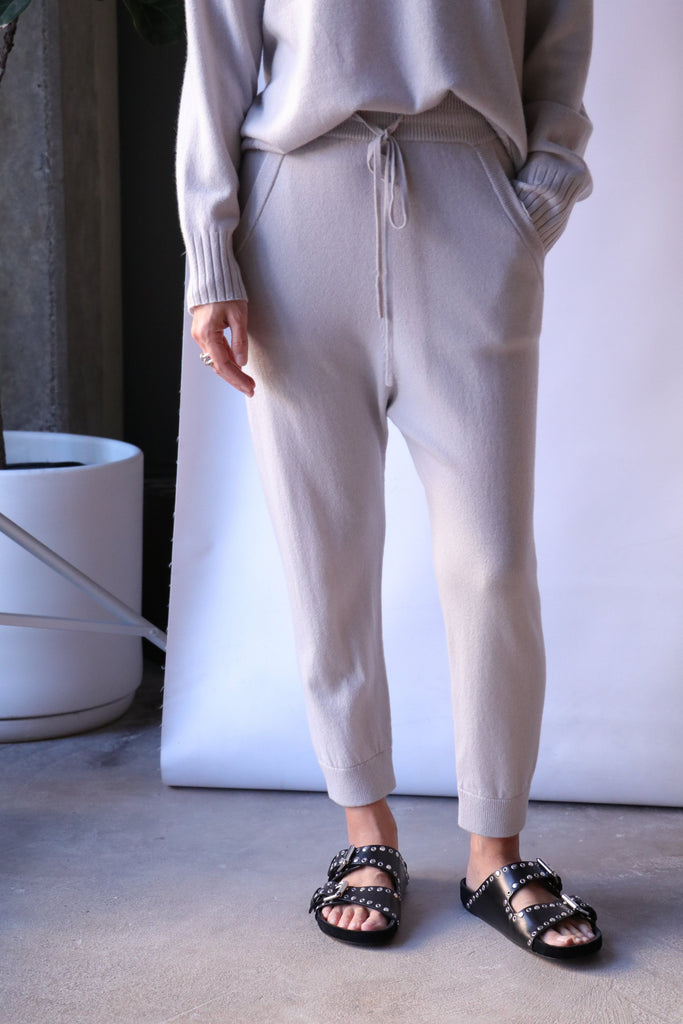 Nili Lotan Paris Sweatpants in Smokey Grey Bottoms Nili Lotan