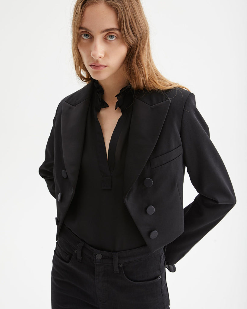 Nili Lotan Reagan Jacket in Black Outerwear Nili Lotan