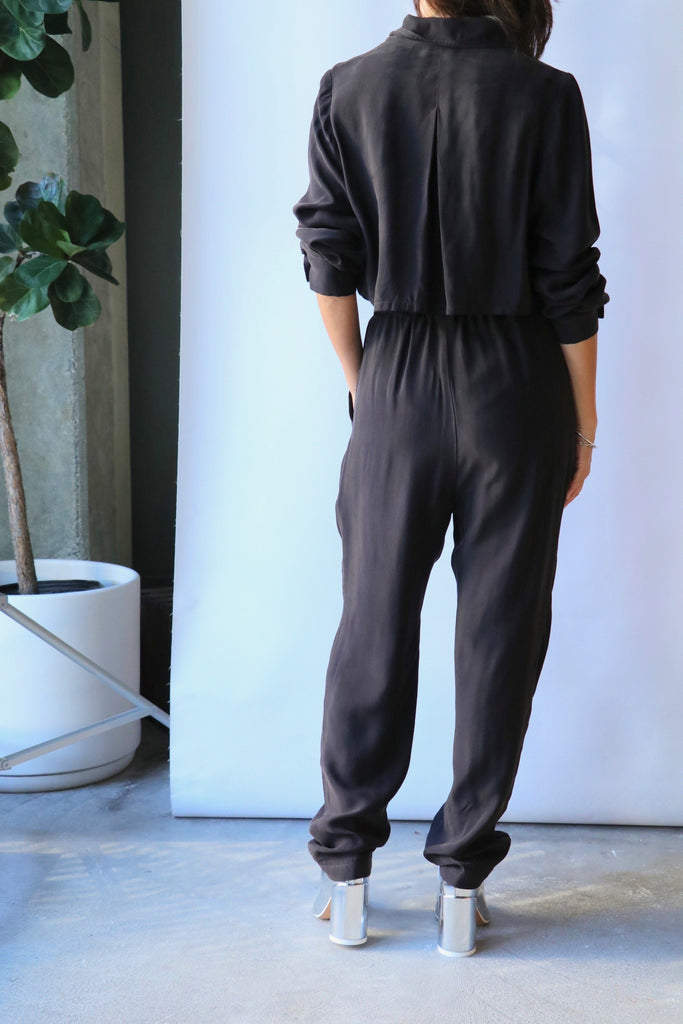 Overlover Hepburn Jumpsuit in Cool Black Jumpsuit Overlover
