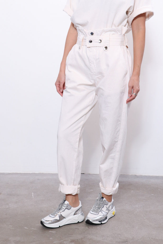 Overlover Jesse Cotton Pants in Milk
