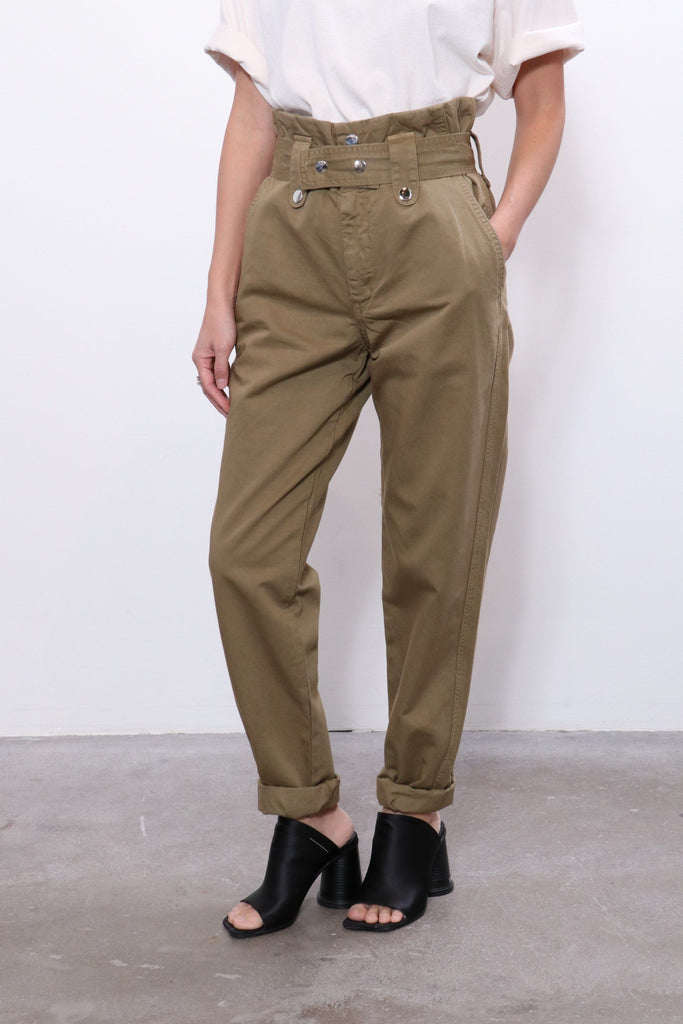 Overlover Jesse Cotton Pants in Olive