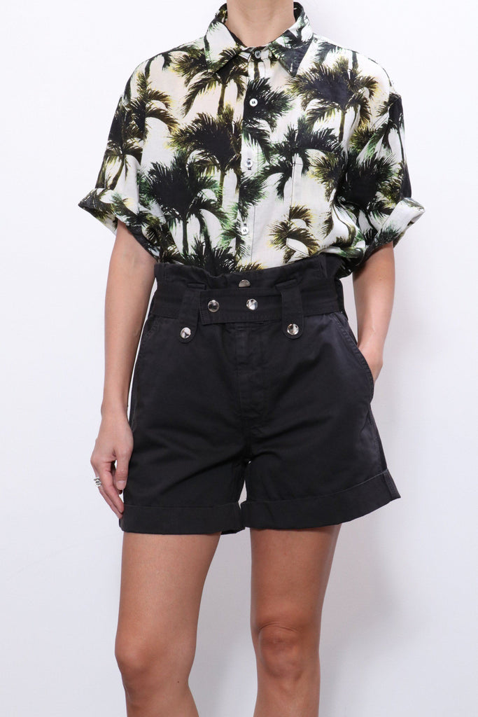 Overlover Temescal Palm Print Top in White