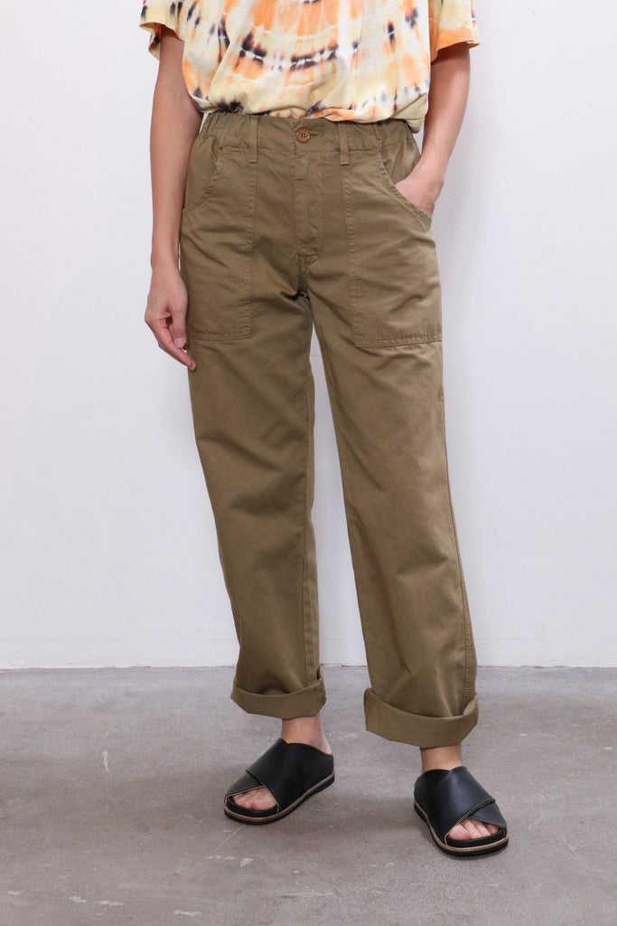 Overlover Topanga Cotton Pant in Olive