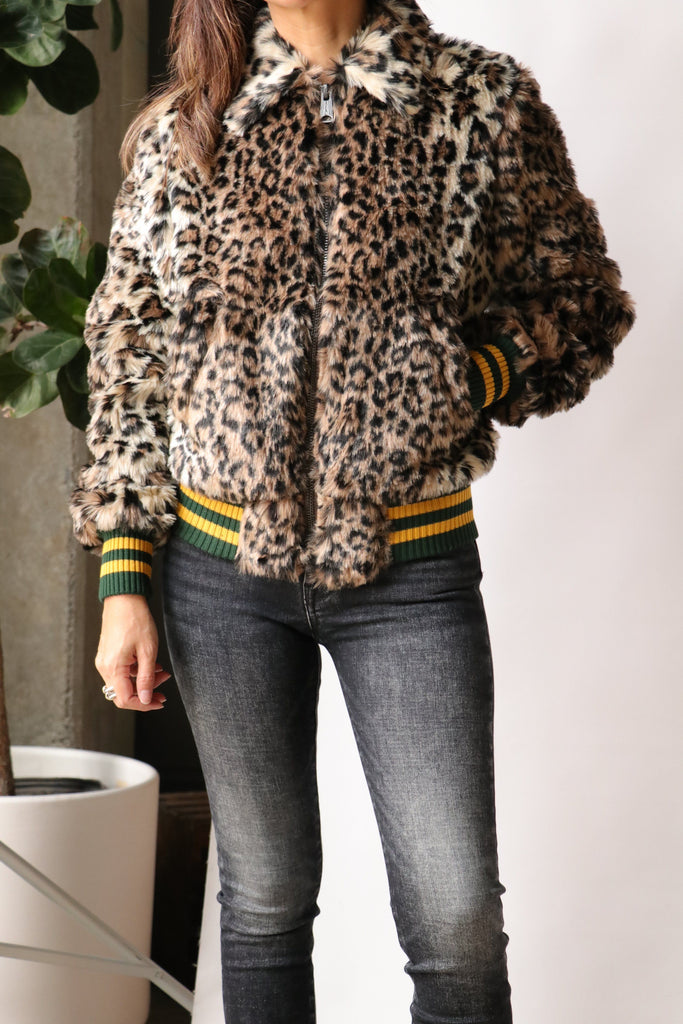 R13 Bomber Jacket in Leopard. Outerwear R13