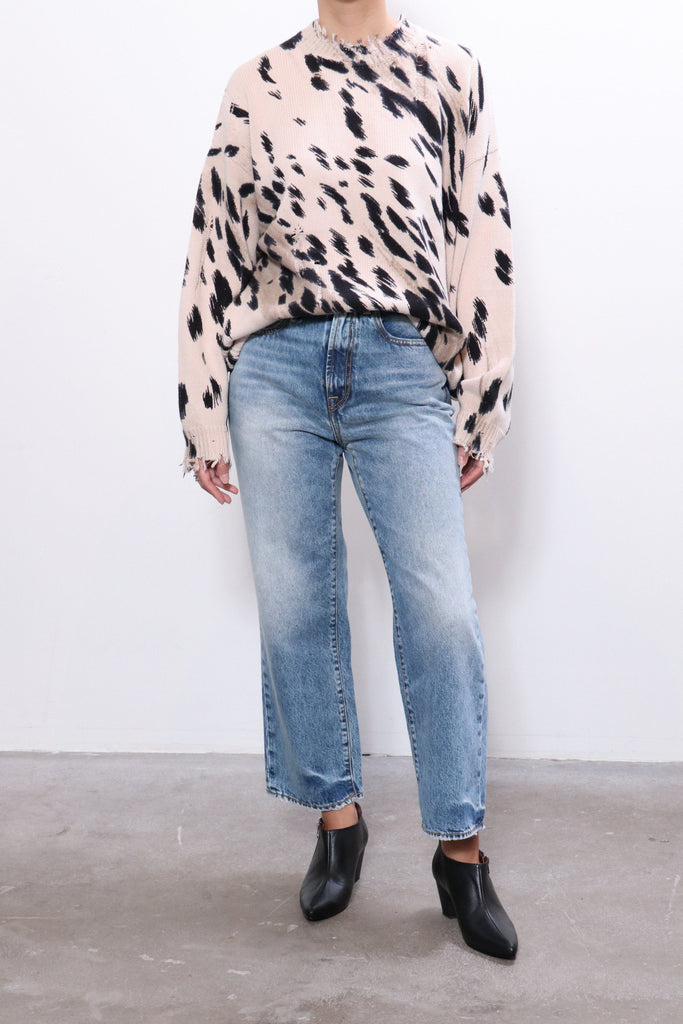 R13 Cheetah Oversized Sweater in Cheetah Print