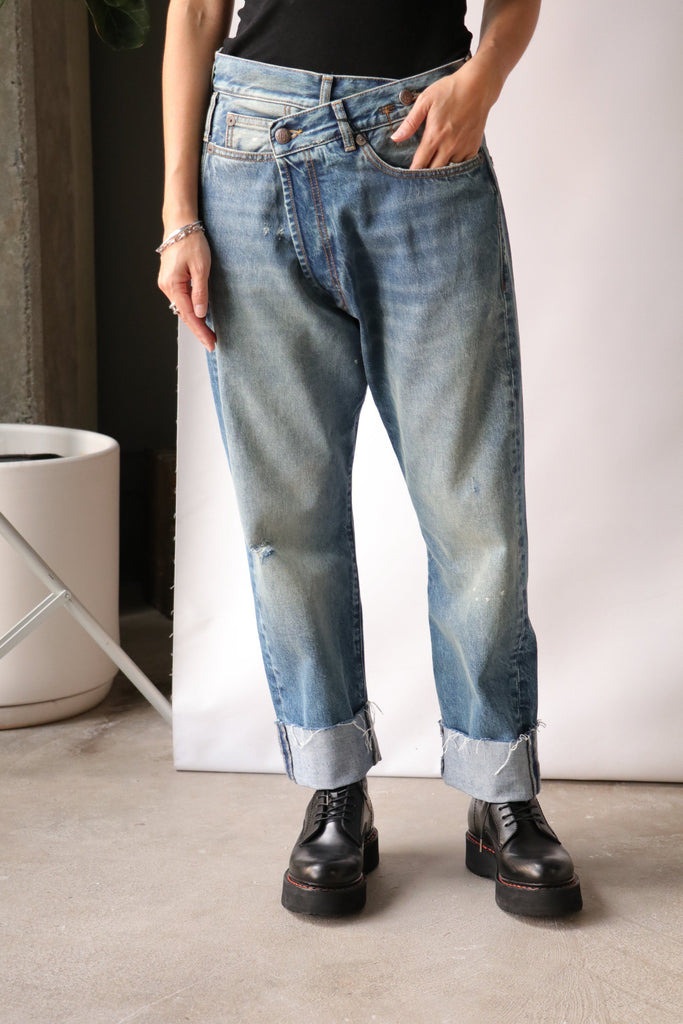 R13 Cross Over Jean Bottoms R13