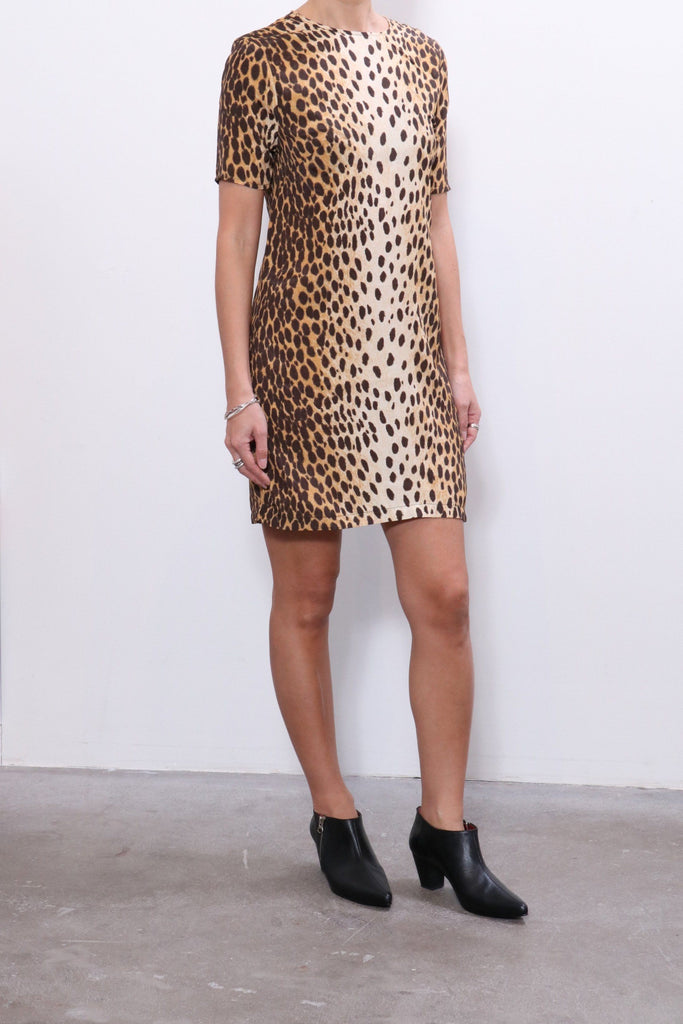R13 Shift Dress in Cheetah Print