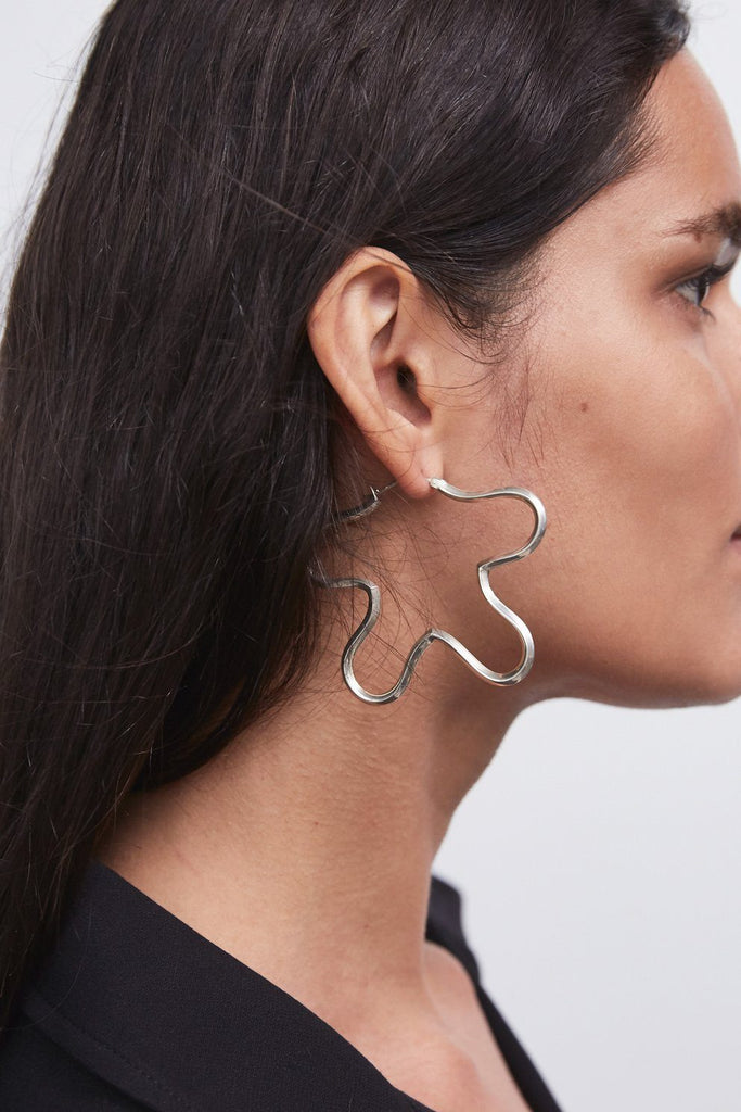 Rachel Comey Clem Earrings in Silver - WE ARE ICONIC