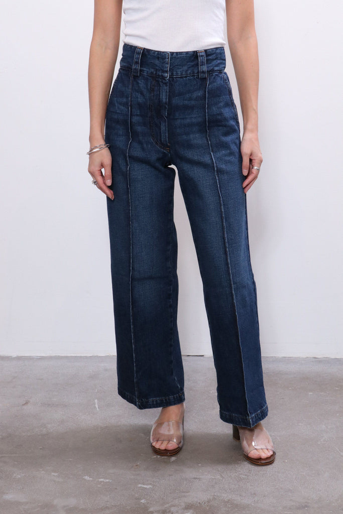 Rachel Comey Elio Pant in Indigo Mission Denim