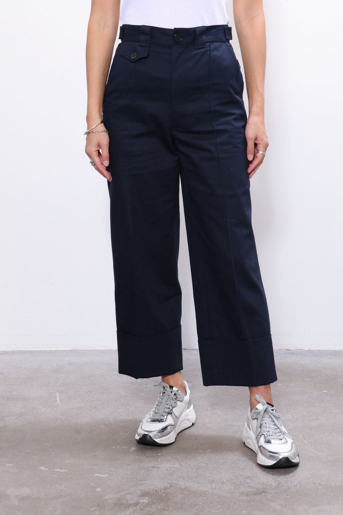 Rachel Comey Maine Pant in Navy Organic Chino